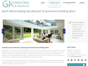 Creative Glass & Aluminium - Part of Shop Front Group Limited.  Creative GA Bifolding Doors & Windows are specialist manufacturers and installers of bespoke aluminium folding doors & aluminium window products